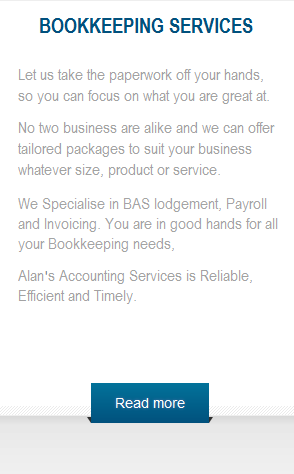 To Alan's Bookkeeping Services page